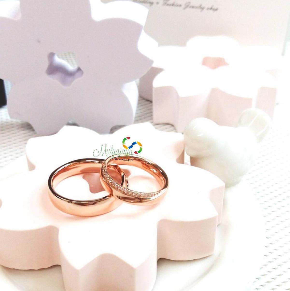 Mulyajaya Jewelry Cincin Kawin Pernikahan Exclusive Palladium 023 Couple E 48